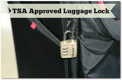 TSA Approved Luggage Lock from Master Lock