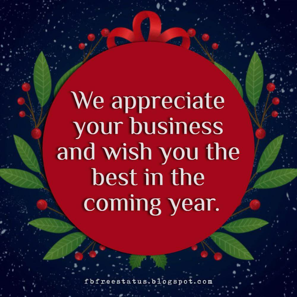 Christmas greeting messages for business with images for Sayings for business christmas cards