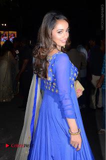 Telugu Actress Tejaswi Madivada Pos in Blue Long Dress at Nanna Nenu Na Boyfriends Audio Launch  0074.JPG