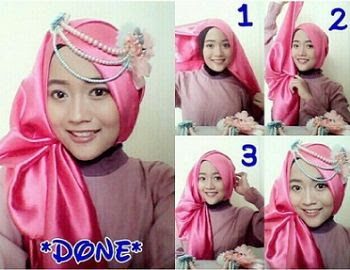 Tutorial Hijab Pashmina Satin Elegan