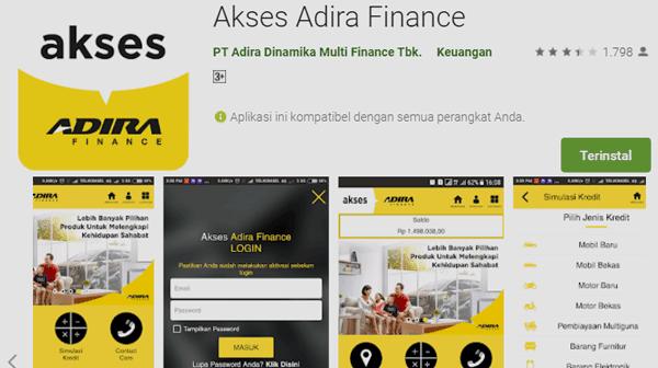 aplikasi agar pemohon dapat mengajukan kredit motor secara online
