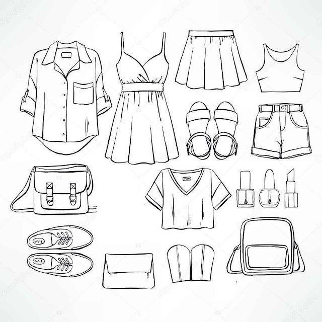dibujos de ropa de verano para descargar gratis
