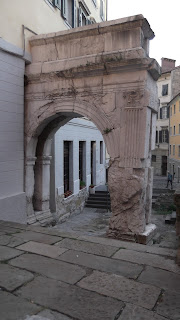 Remnants of Trieste's Roman past are still visible