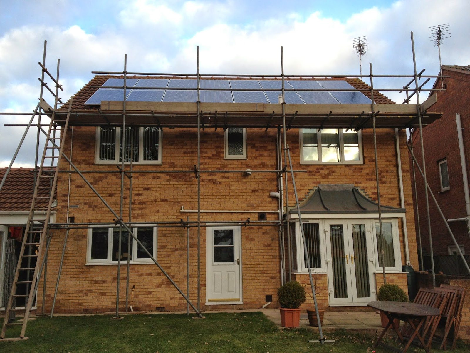 4kw Solar panel system fitted in Mansfield, connected to enphase micro inverters - jb electrical 016233 332000