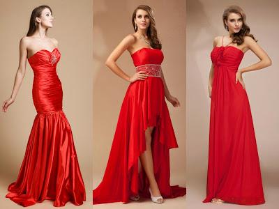 Robe rouge longue pour soirée bustier