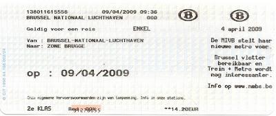 Billete estándar, Bélgica