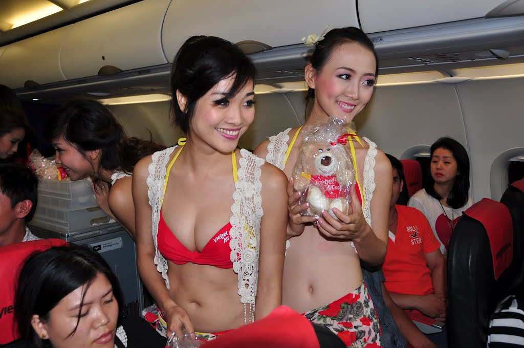 Vietjet Air Sexy Stewardess, contestant of a local beauty pageant