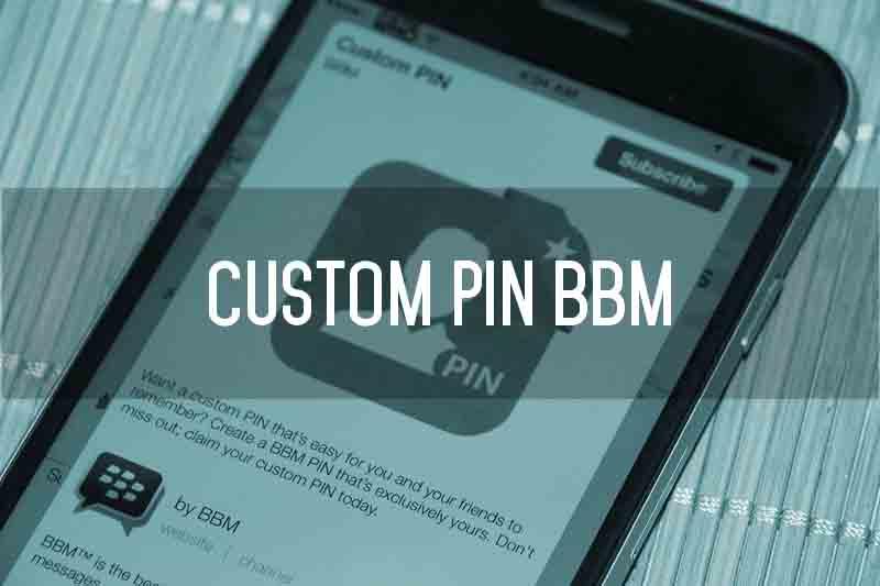 custom pin bbm sendiri