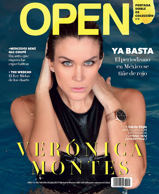 Fotos Veronica Montes en bikini para revista Open Julio 2017