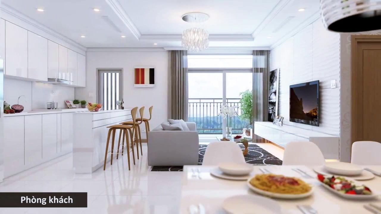 Phòng khách căn hộ chung cư Tây Hồ Sky Line