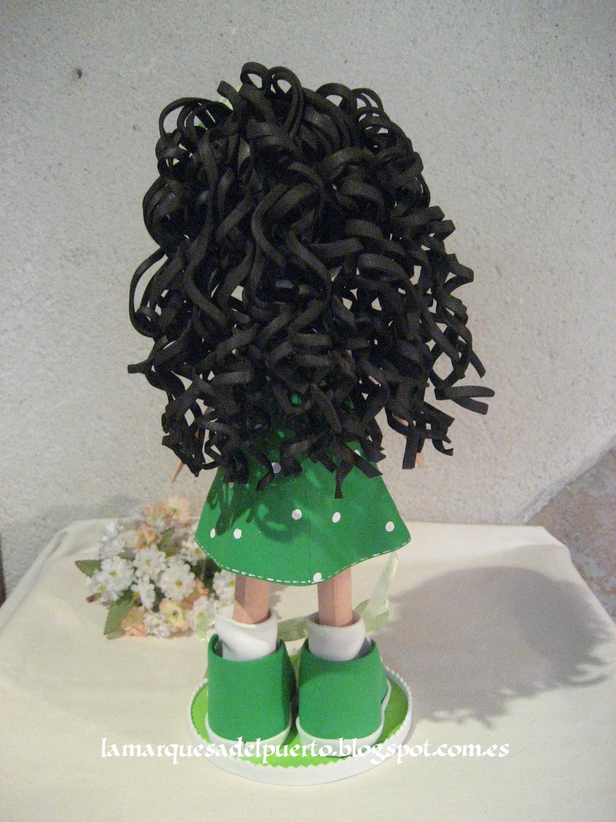 Como poner pelo rizado a las fofuchas