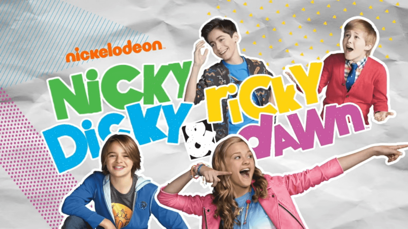 in addition to nicky ricky dicky dawn mace has also featured in many additional nickelodeon projects such as santa hunters nickelodeon slime cup 2016