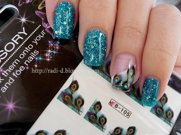 It S All About Nails Peacock Feathers Glitter Gel Polish