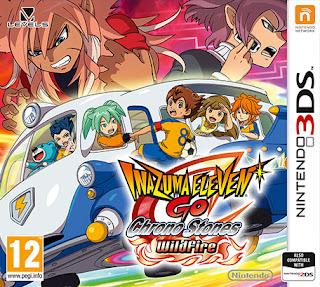 Inazuma Eleven GO 2 Chrono Stones wildfire 3DS .CIA