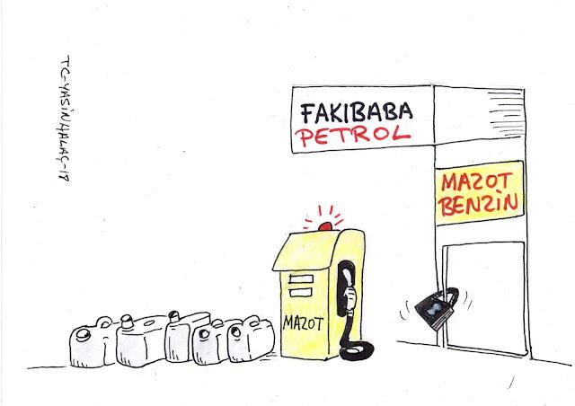 fakıbaba petrol karikatür