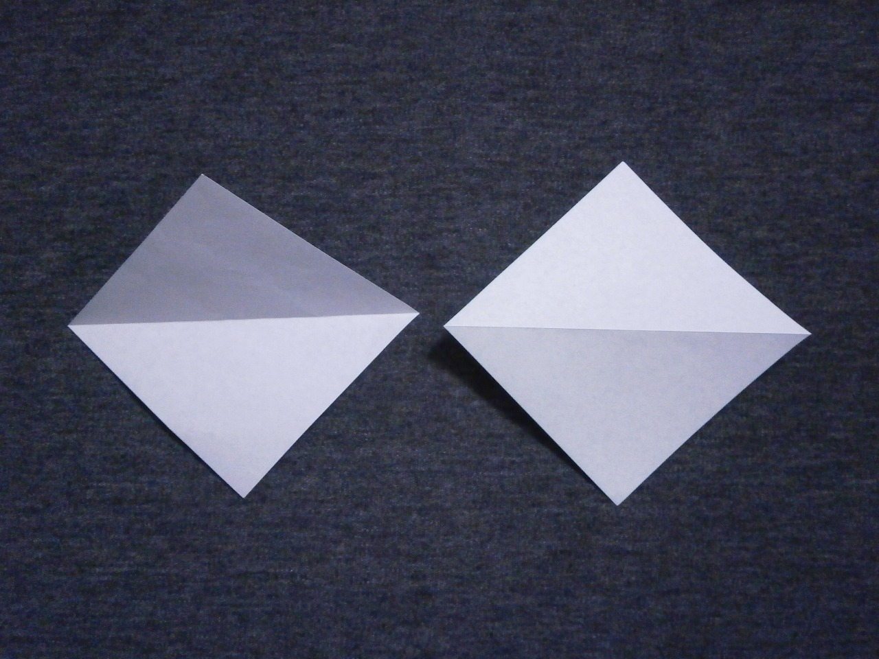 "KATAKOTO ORIGAMI: Step2 ""Mountain fold"" - photo#5"