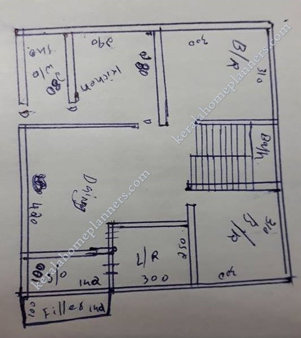 Low Budget 2 Bedroom Home For 10 Lakhs In 860 Sqft With Free Plan Free Kerala Home Plans