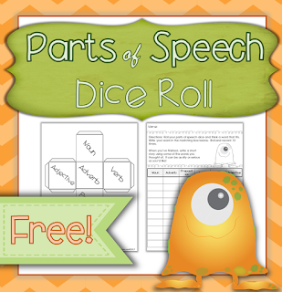 Teaching your child Parts of Speech?  Try adding this fun freebie to your homeschool, and check out our other freebies while you are at it!