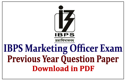 IBPS Marketing Officer Previous Year Question Paper