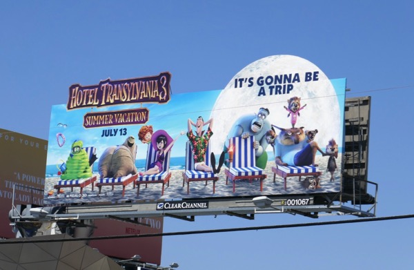 Hotel Transylvania 3 Summer Vacation billboard