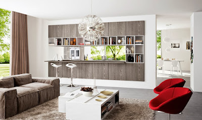 natural open concept kitchen design idea