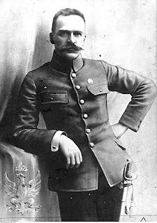 Józef Piłsudski, dowódca I Brygady Legionów - 1914