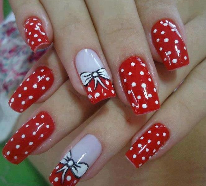 Red Color Nail Art Best Nail Designs 2018