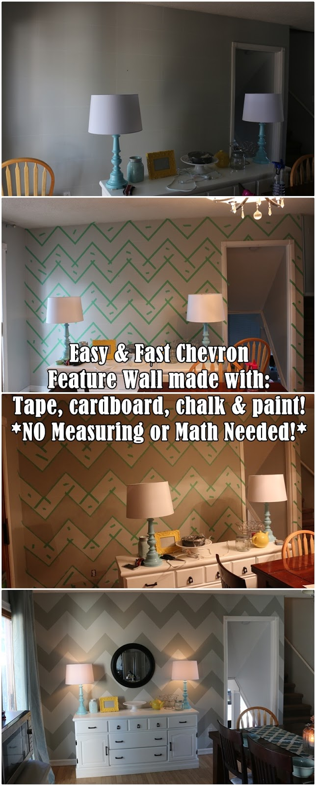 On A Cold Day Easy Cheap And Math Free Chevron Wall