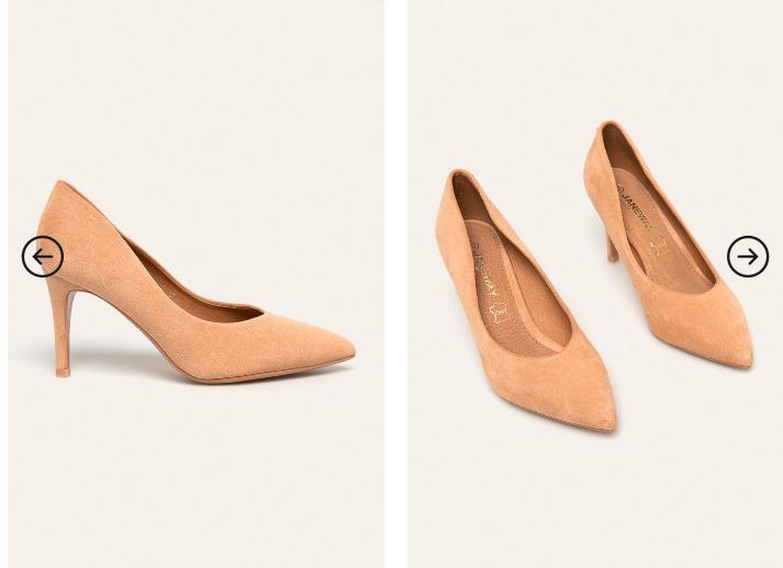 Pantofi cu toc inalt eleganti roz din piele intoarsa eco de ocazii