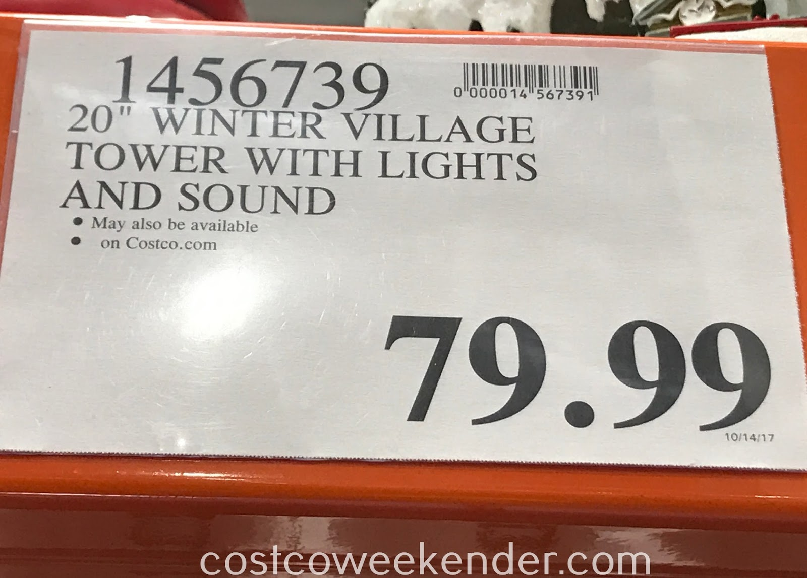 Deal for the LED Winter Ski Village with Music at Costco