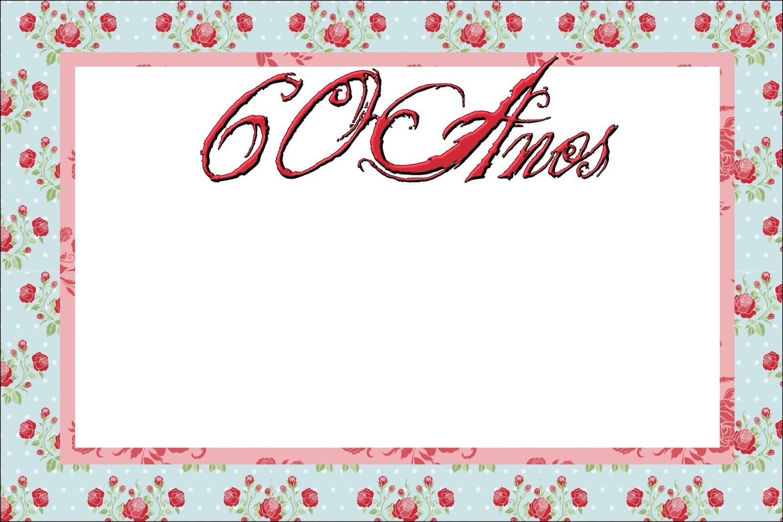Tarjetas De Cumpleaños 60 Años Mujer