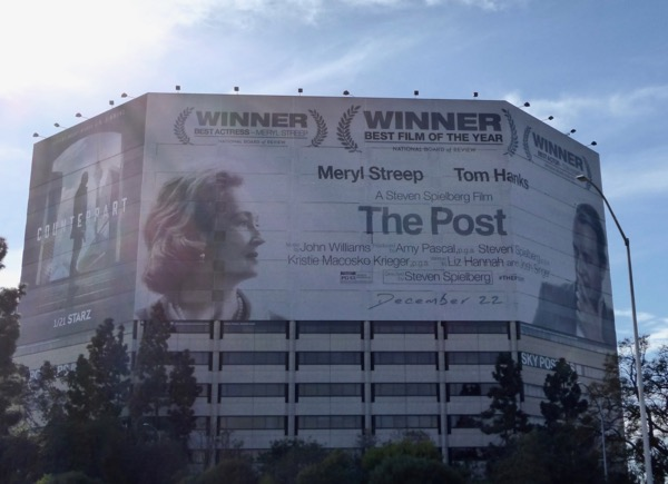 Post giant movie billboard 405 freeway
