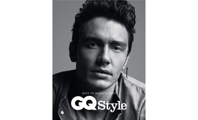 modern man gq style magazine uk with james franco gracing cover on us book stands now a. Black Bedroom Furniture Sets. Home Design Ideas