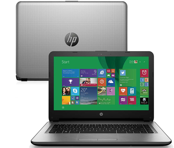 O notebook HP 14-AC121BR vem com um processador Intel Core i7 6ª geração