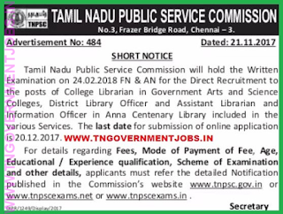 tnpsc-college-librarian-dlo-post-acl-assistant-librarian-post-recruitment-notification-2017-www-tngovernmentjobs-in