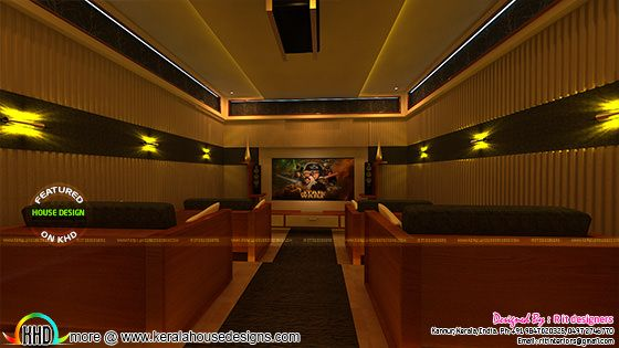 Kerala Home theater room interior