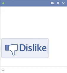Dislike Button For Facebook Chat