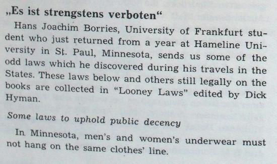 Komische Gesetze