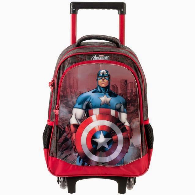 Mochilete infantil Vingadores tema Capitão América