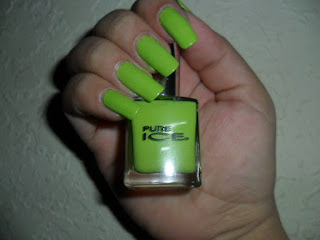 green nail polish brand Pure Ice : Wild thing