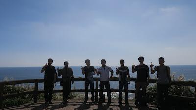 城ヶ島公園で記念撮影!