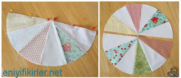 how to circle patchwork pillow
