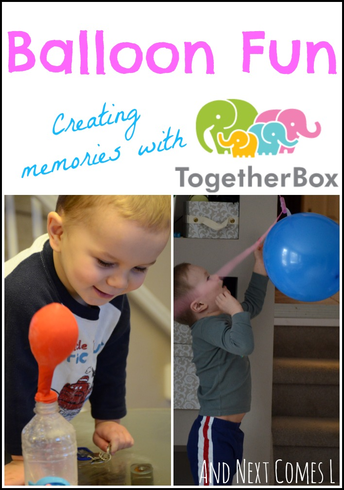 Balloon Fun!  Creating memories with the Together Box {review and coupon code} from And Next Comes L