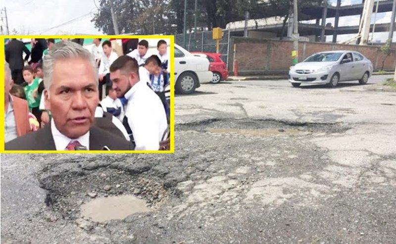 """""""Si no les gustan los baches, pueden irse a vivir a otro lugar"""", dice alcalde priísta de Toluca."""