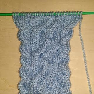 4本ケーブル編み,4 rib cable knitting,棒针编织4根麻花,