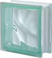 verre vert ondulé satiné une face