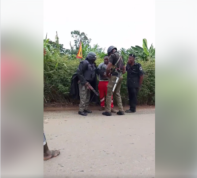 Police officers Beat Okada Rider Over N50 At Checkpoint In Enugu (Photos)
