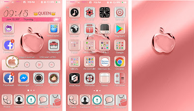Pink Apple Theme itz For Vivo