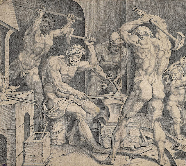 Cornelis Bos: La fucina di Vulcano (dettaglio)