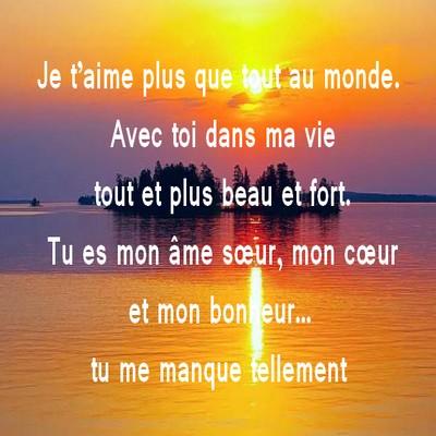 Connu Message d amour tu me manque ~ Messages et Textes d'amour PO83